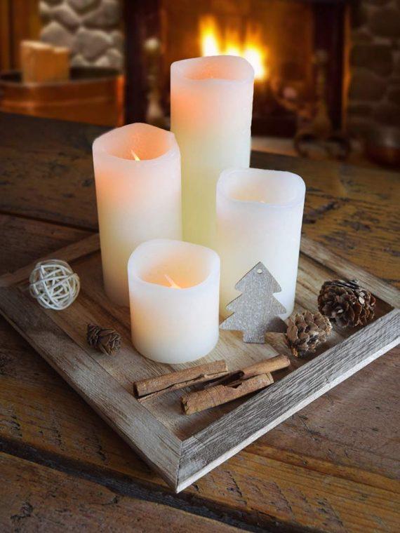 Kerst LED Kaarsen Set